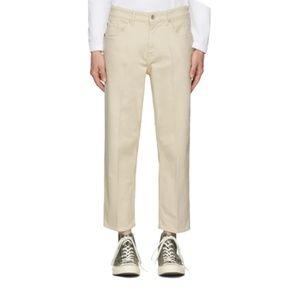 Tiger of Sweden Jeans - Tiger of Sweden Cropped Ecru Pants Men's 28x30